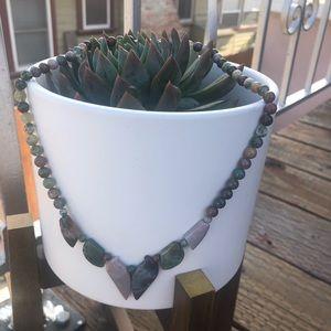 Vintage Gemstone Teal Blue Turquoise Necklace